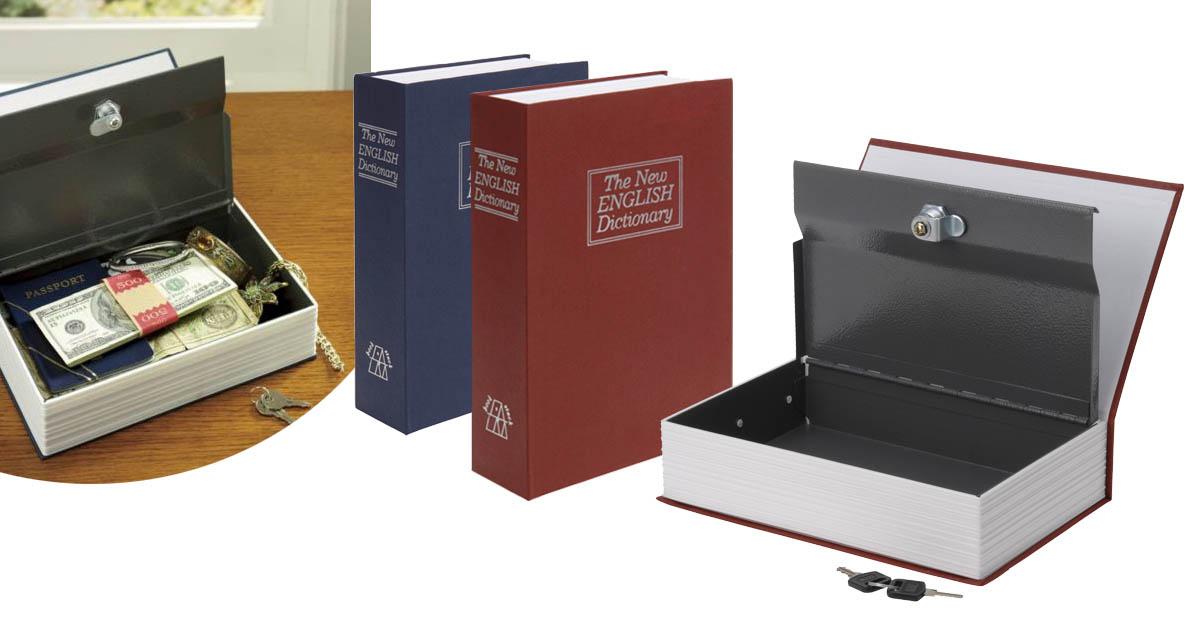 Szótár alakú biztonsági doboz két színben