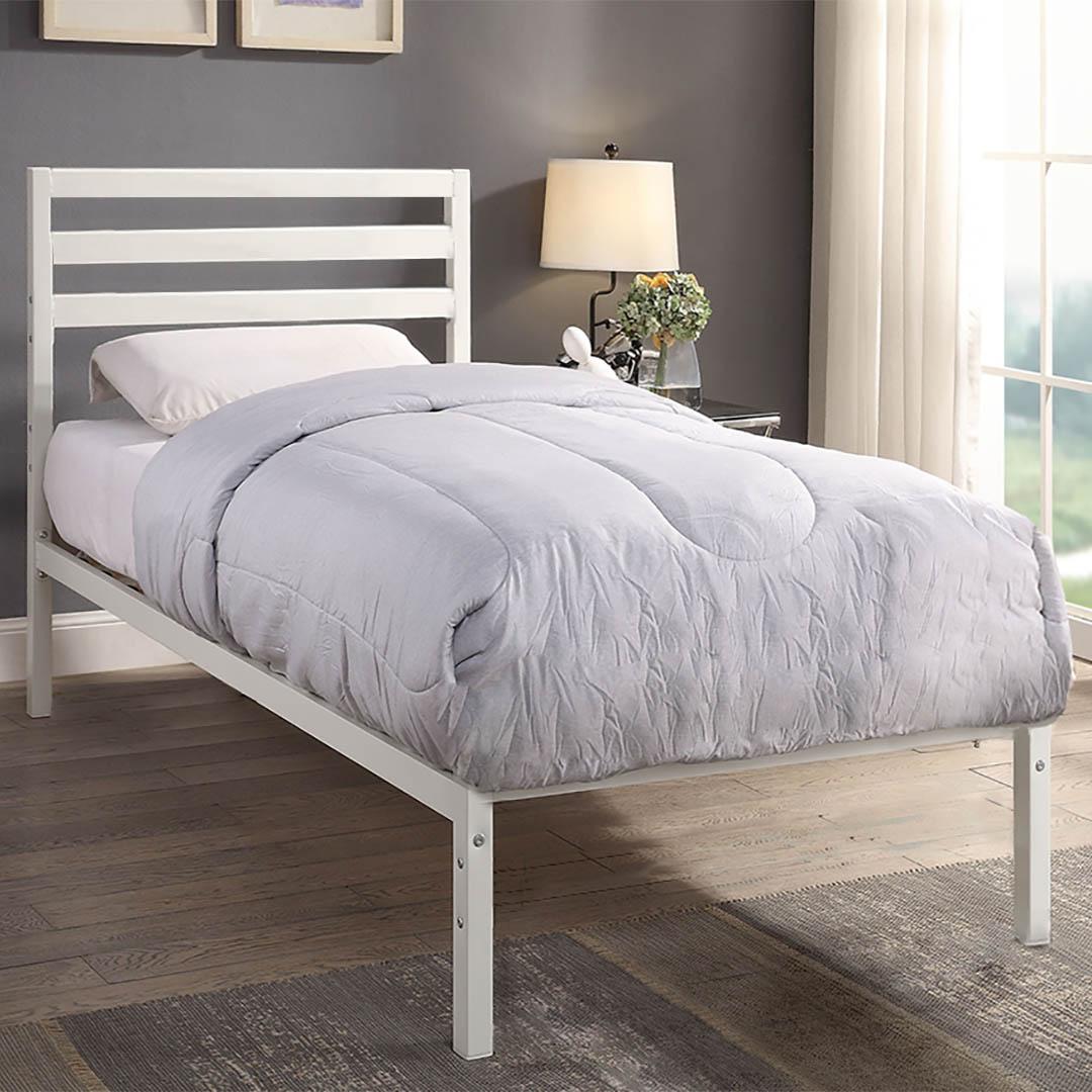 fehér ágykeret
