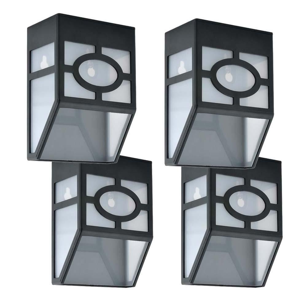 4 db kültéri, fekete, szolár lámpa