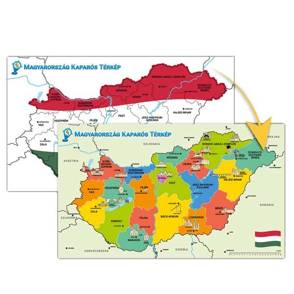 Lekaparható Magyarország térkép