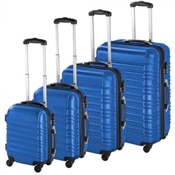 kék bőrönd szett